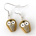 Owl polymer clay earrings by Madame Manon
