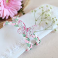 Wedding DIY : make shabby chic napkin rings