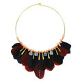 Statement Necklace Swarovski and Feathers