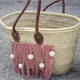 Customize a straw basket with Natura wool XL and macrame