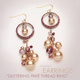 Glittering Pavé Thread Ring Earrings with Swarovski beads