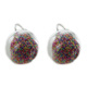 Earrings mit glass Dome to fill and microballs