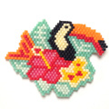 Toucan flower brickstitch with Miyuki delicas