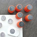 Use of the mandalas buffer tube on polymer clay and paper