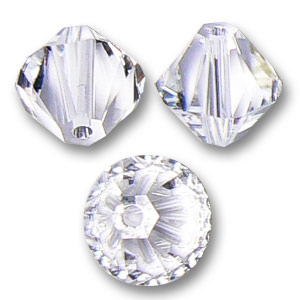 Swarovski Crystal Bicones 4mm Crystal  x50