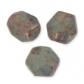Faceted beads 4mm EldMilky Turquoise Luster Rose x50