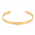 Brass cuff bracelet with 1 loop to customize 5,1x160 mm Gold Tone