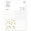 Paper pad Paper Poetry 21x30 cm Dots/Stars Hot Foil x20 sheets