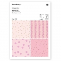 Paper pad Paper Poetry 21x30 cm Dots/Stars Pink x20 sheets