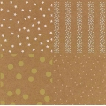 Paper pad Paper Poetry 21x30 cm Kraft Dots/Stars Hot Foil x20 sheets