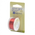 Colored copper wire Artistic Wire 0.51 mm Red x9,1m