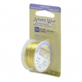Colored copper wire Artistic Wire 0.51 mm Lemon x9,1m