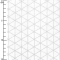 Cotton fabric Big Pattern - White and silver Diamond x10cm