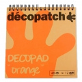 Pad Decopad by Decopatch 15x15 cm - Orange x48