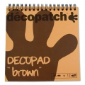 Pad Decopad by Decopatch 15x15 cm - Brown x48