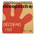Pad Decopad by Decopatch 15x15 cm - Red x48