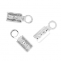 925 Sterling Silver Rounded end clips 2 mm x10