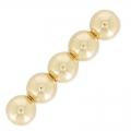 Ball or round beads 5 mm 14k Gold filled x5