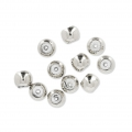 925 Sterling Silver Stopper bead 3 mm with a 1 mm hole x2