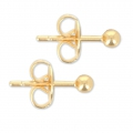 Ball Earstuds 3 mm Gold Tone x2