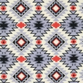 Fabric David Textiles - Tribal Stripe - Grey/Turquoise x10cm