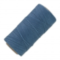 Linhasita wax thread bobbin for micro macrame 0.75 mm Denim Blue (119) x250m