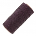Linhasita wax thread bobbin for micro macrame 0.75 mm Cherry Black (630) x250m