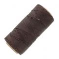 Linhasita wax thread bobbin for micro macrame 0.75 mm Brown (259) x250m