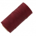 Linhasita wax thread bobbin for micro macrame 0.75 mm Burgundy (60) x250m