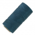 Linhasita wax thread bobbin for micro macrame 0.75 mm Teal (228) x250m
