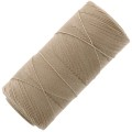 Linhasita wax thread bobbin for micro macrame 0.75 mm Tan (382) x250m