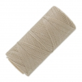 Linhasita wax thread bobbin for micro macrame 0.75 mm Natural linen (05) x250m