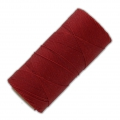 Linhasita wax thread bobbin for micro macrame 0.75 mm Red (233) x250m