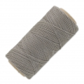 Linhasita wax thread bobbin for micro macrame 0.75 mm Grey (208) x250m