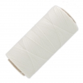 Linhasita wax thread bobbin for micro macrame 0.75 mm White x250m