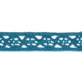 Lace ribbon spiral motif 10 mm Blue x 1m