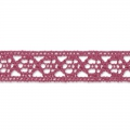 Lace ribbon spiral motif 10 mm Fuchsia x1m