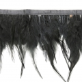 Feathers Ribbon for customization and DIY creation - 8-15 cm - Black x1m