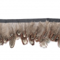 Feathers Ribbon for customization and DIY creation - 4-6 cm - Brown x1m