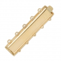 5 strands clasp to clip 8x34.5 mm Gold Tone x1