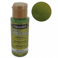 Metallic Acrylic decorative paint - DecoArt Dazzling Metallics - Festive Green x59 ml