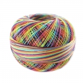 Cotton thread Lizbeth size 80 Rainbow Splash n°184 x168 m