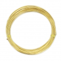 Aluminium wire 1 mm Golden Yellow x 12 m