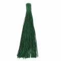 Large tassel without attachment 120 mm for decoration or jewels Green