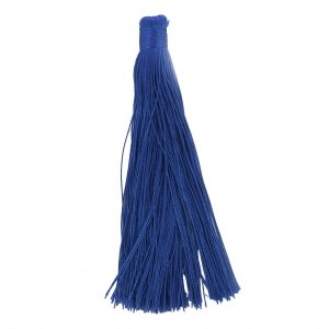 Large tassel without attachment 120 mm for decoration or jewels Blue