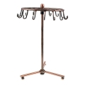Rotating metal display stand 30x23 cm Patinated copper