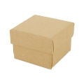 Gift box fancy jewel case 5x5x3.8 cm Kraft