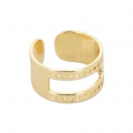 Eco brass ring for a Miyuki Delicas 11/0 bead weaving 10 mm Gold Tone x1