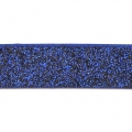 Fancy ribbon imitation leather 10 mm Dark Blue Glitter x1.2m