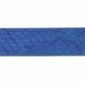 Fancy ribbon imitation leather 10 mm reptile effect Metalized Blue x1.2m